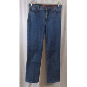 NYDJ Straight Med Wash Jeans 6